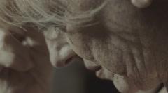 Depressed woman closeup potrait Stock Footage