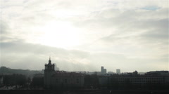 Break in the clouds in winter over Vilnius, Lithuania. 4 shots in a sequence Stock Footage