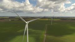 Wind Farm Aerial Stock Footage