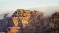 4K Grand Canyon Clouds over Cliff Stock Footage