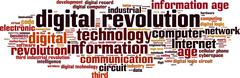 Stock Illustration of digital revolution word cloud