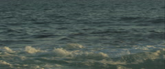 Wave crashes on the beach, Anamorphic, Red One, 3K Stock Footage