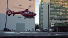 Helicopter Emergency Medical Services Stock Footage