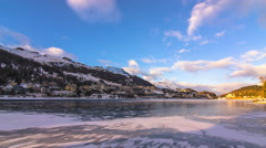 St.moritz skyline time lapse day to night 4k Stock Footage