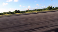 Landing Strip on the Micronesian Island of Yap Stock Footage