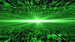 Matrix 3d - 4k 30fps, 5-10s is loopable - flying through energized cyberspace Stock Footage