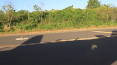 Landing Strip on Micronesian Island of Yap Stock Footage