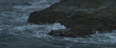 Waves hit rock, 3K, Anamorphic, Red One - stock footage