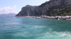 The Isle of Capri, Campania Stock Footage