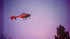 Helicopter EMS - vintage Stock Footage