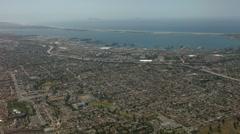 San deigo coronado bridge aerial Stock Footage