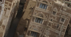 Narrow Streets in Old Sana'a (4K) Stock Footage