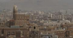 Minaret In the Old City of Sana'a, Yemen (4K) - stock footage