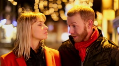 Attractive happy couple in love out on a date Stock Footage