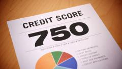4K Dropping Credit Score Report Stock Footage