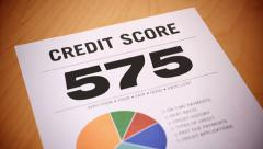 Stock Video Footage of 4K Rising Credit Score Report