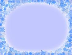 Stock Illustration of blue pattern frame from snowflakes for holiday