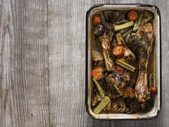 rustic gravy ingredient - stock photo