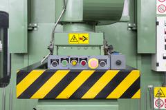 control panel of the molding press - stock photo