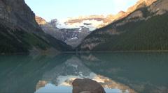 Lake Louise Reflection Stock Footage