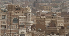 Minaret in the Old City of Sana'a, Yemen (4K) Stock Footage