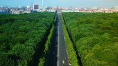 View of Berlin, aerial view from The Victory Column , time lapse Stock Footage