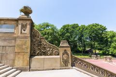 Central park bethesda terrace stairs new york Stock Photos