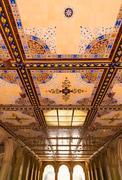 Stock Photo of central park bethesda terrace underpass arcades