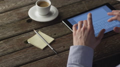 Typing a Mail Message on Tablet at Home. Causal Lifestyle Stock Footage