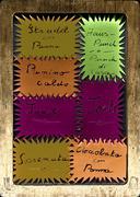 handwriting food sheets - stock photo