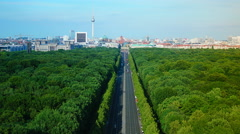 View of Berlin, aerial view from The Victory Column , time lapse - stock footage