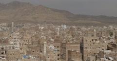 Stock Video Footage of Old City of Sana'a, Yemen (4K)