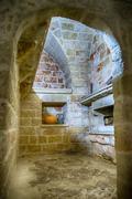 Old italian stone room Stock Photos