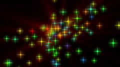Wonderful christmas animation with moving stars and lights, loop hd 1080p Stock Footage