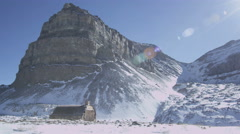 A shelter in the mountains Stock Footage