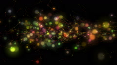 Stock Video Footage of futuristic video animation with light particles in motion, loop hd 1080p