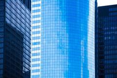 lower manhattan mirror skyscrapers new york - stock photo