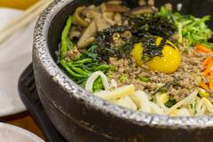 korean food bibimbap - stock photo