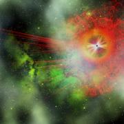 Super massive star Stock Illustration