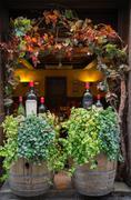 amarone wine barrel - stock photo
