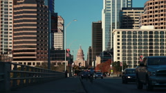 Downtown Austin with Texas State Capitol - stock footage