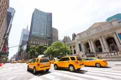 new york manhattan public library fifth avenue - stock photo