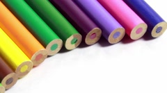 Colored pencils Stock Footage