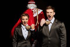 Financial concept of Christmas expenses Stock Photos