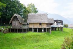 Paleolithic pile-dwelling Stock Photos
