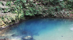 Swimming in Blue Hole Stock Footage