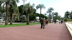 French Walk in Cannes France Stock Footage