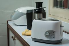 electric appliances in a kitchen - stock photo