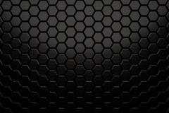 Abstract hexagon wall with brushed black metal texture Stock Illustration