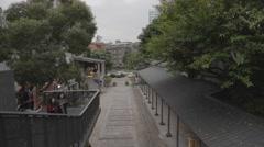 Huanshan - birdseye of courtyard Stock Footage